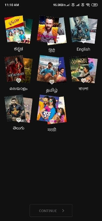 select language hotstar premium